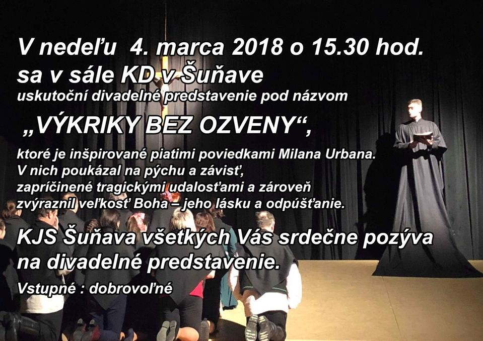 Divadelné predstavenie - VÝKRIKY BEZ OZVENY 1