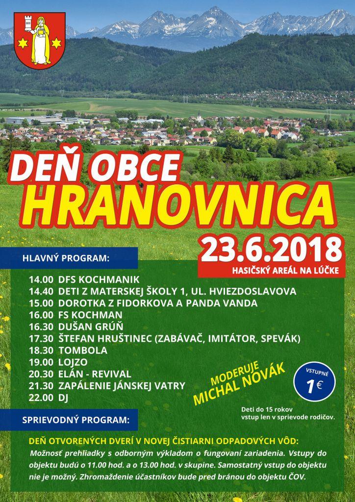 Deň obce Hranovnica 2018 1
